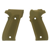 Hogue Sig P226 Grips Checkered Aluminum Matte Green Anodized-26171