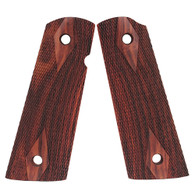 Hogue Colt & 1911 Government S&A Mag Well Grips Coco Bolo Checkered-45871