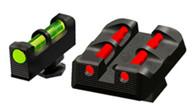 HIVIZ Sight Set W/Interchangeable LitePipes For Glock Pistols (GLT178)