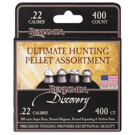 Benjamin Sheridan Hunting Pellet Assortment Pack .22 Caliber-400 Count (22BHPA)