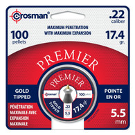 Crosman .22 Cal Premier Gold Tipped Pellets-Tin of 100 (GTP22)