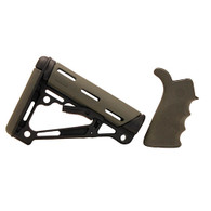 Hogue AR15 Overmold Collapsable Buttstock & Beavertail Finger Groove Grip Com/Mil-Spec Olive Drab Green-15255
