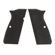 Hogue Browning Hi Power Grips Checkered G-10 Solid Black-09179