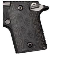 Hogue Sig P938 Ambidextrous Extreme Series Grip Ambidextrous, G10 G-Mascus Black/Gray-98147