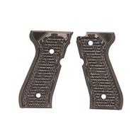 Hogue Beretta 92 Grips Piranha G-10 G-Mascus Black/Gray-92137-BLKGRY