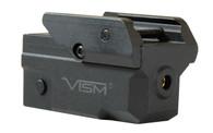 VISM Compact Pistol Red Laser W/KeyMod Accessory Rail (VAPRLSRKM)