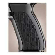 Hogue CZ-75/CZ-85 Grips Checkered Aluminum Matte Black Anodized-75170