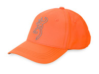Browning Hi-Viz Blaze Orange Cap W/Gray Buckmark Logo (308461591)
