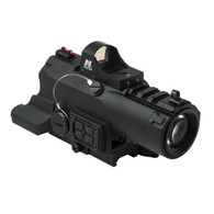 VISM ECO 4x34 Scope W/Laser/LED NAV/Micro Green Dot (VECO434QRBG-A)