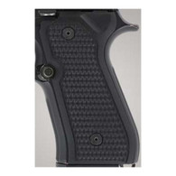 Hogue Beretta 92 Grips Piranha G-10 Solid Black-92139
