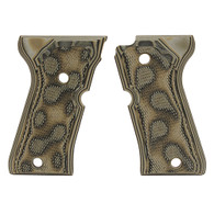 Hogue Beretta 92 Compact Grips Checkered G-10 G-Mascus Green-93178