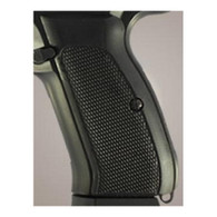 Hogue CZ-75/CZ-85 Grips Checkered G-10 Solid Black-75179