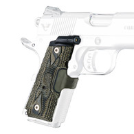 Hogue Laser Enhanced Grip Red Laser, Officers Model 1911 Piranha Grip G10, G-Mascus Green-43181