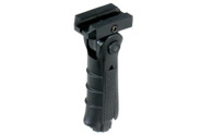Leapers UTG 5 Position Foldable Picatinny Foregrip-Ambi-Black (RB-FGRP170B)