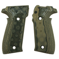Hogue Sig P226 Grips Checkered G-10 G-Mascus Green-26178