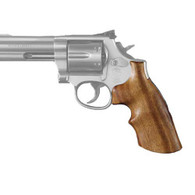 Hogue Dan Wesson Grip Small Frame, Goncalo Alves w/Tang, Finger Grooves-57250