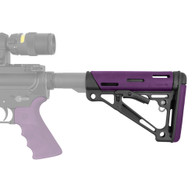 Hogue AR-15/M-16 Overmold Collapsable Buttstock Mil-Spec Purple 15640