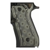Hogue Beretta 92 Grips Checkered G-10 G-Mascus Black/Gray-92177-BLKGRY
