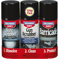 Birchwood Casey Bore Scrubber/Gun Scrubber/Barricade Aerosol Value Pack (33309)