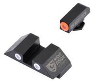 Night Fision Perfect Dot Tritium Night Sight Set For Glock High (GLK-002-003-OGWG)
