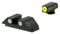 Night Fision Perfect Dot Tritium Night Sight Set For Glock 42/43 (GLK-003-003-YGWG)