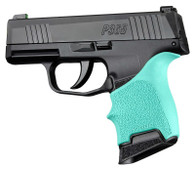 Hogue HANDALL Beavertail Rubber Grip Sleeve For Sig Sauer P365-Aqua (18704)