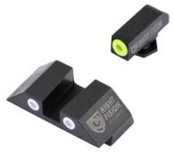 Night Fision Perfect Dot Tritium Night Sight Set For Glock High (GLK-002-003-YGWG)