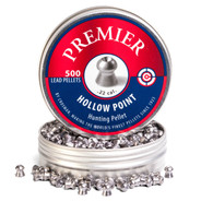 Crosman .22 Cal Premier Hollow Point Pellets-Tin of 500 (LHP22)
