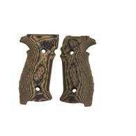 Hogue Sig P226 Grips DA/SA Magrip, Chain Link G-10 G-Mascus Green-23118