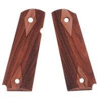 Hogue Colt & 1911 Government Grips Pau Ferro, Checkered-45311