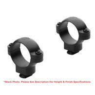 Leupold 30mm Dual Dovetail Steel Rings-Low Height-Matte Black (52242)