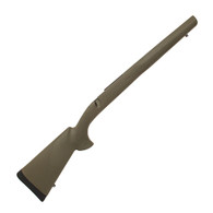 """Hogue Ruger 77 MKII Long Action Overmolded Stock """"B"""" Barrel, Pillarbed, Olive Drab Green-77221"""