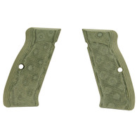Hogue CZ-75/CZ-85 Grips Checkered G-10 G-Mascus Green-75178