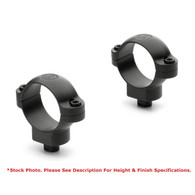 Leupold 34mm Quick Release Steel Rings-High Height-Matte Black (118285)