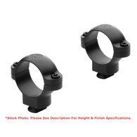 "Leupold 1"" Dual Dovetail Steel Rings-Low Height-Gloss Black (49914)"
