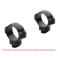 "Leupold 1"" Dual Dovetail Steel Rings-Low Height-Gloss Black (49914)"