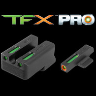 CVA TFX PRO 1911 .260/.500 Novak Night Sight Set-Green W/Org Ring (TG13NV3PC)