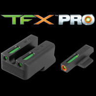 TruGlo TFX PRO 1911 .260/.500 Novak Night Sight Set-Green W/Org Ring (TG13NV3PC)