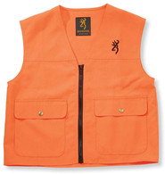 Browning Junior Blaze Safety Vest-Blaze Orange-Youth XL (3055000104)