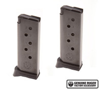 Ruger LCP Magazine .380 ACP 6 Round Factory Mag Value 2-Pack (90643)