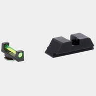 Ameriglo Green Fiber Front/Black Steel Rear Sight Set For Glock High (GFT-120)