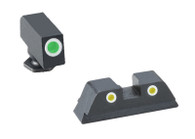 Ameriglo Classic Night Sight Set For Glock 42/43/43X/48 Grn/Yellow (GL-431)