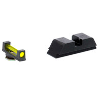 Ameriglo Amber Fiber Front/Black Rear Sight Set For Glock Low GEN 1-4 (GFT-115)