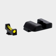 Ameriglo Amber Fiber Front/Black Rear Sight Set For Glock Low GEN 1-4 (GFB-105)