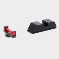 Ameriglo Red Fiber Frt/Blk Rear Sight Set-GEN 5 Glock 17/19/19X/26/34/45 (GFT-124)