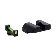 Ameriglo Green Fiber Front/Black Rear Sight Set For Glock Low GEN 1-4 (GFB-104)