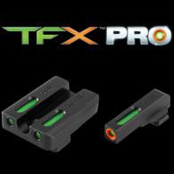 TruGlo TFX PRO Tritum Fiber Optic Sight Set For Sig Sauer P238 (TG13SG3PC)