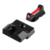 TruGlo Fiber Optic PRO Sight Set For Glock Low-Black Rear/Fiber Front (TG132G1)