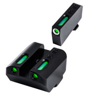 TruGlo TFX Tritium Fiber Optic Sup Height Sight Set For Glock Low (TG13GL4A)
