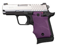 Hogue Rubber Grip W/Finger Grooves For Springfield 911-9mm-Purple (49086)
